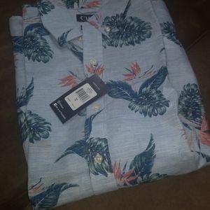 NWT - Chaps Short Sleeve Linen Cotton Shirt